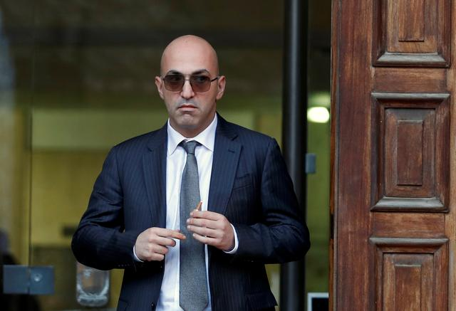 FILE PHOTO: Maltese businessman Yorgen Fenech, who was arrested in connection with an investigation into the murder of journalist Daphne Caruana Galizia, leaves the Courts of Justice in Valletta, Malta, November 29, 2019. REUTERS/Yara Nardi/File Photo