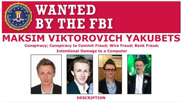 Maksim Yakubets is seen on a wanted poster distributed by the Federal Bureau of Investigation (FBI) released in Washington, U.S. December 5, 2019.  FBI/Handout via REUTERS