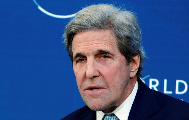 FILE PHOTO: Former U.S. Secretary of State John Kerry attends the World Economic Forum (WEF) annual meeting in Davos, Switzerland, January 24, 2019. REUTERS/Arnd Wiegmann