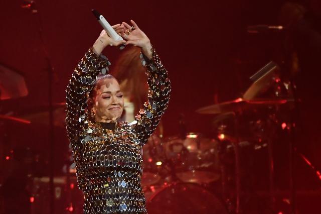 Singer Rita Ora performs during the Avicii Tribute Concert For Mental Health Awareness at Friends Arena in Stockholm, Sweden December 5, 2019.  TT News Agency/Erik Simander via REUTERS