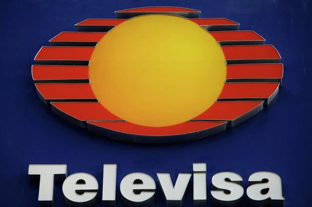 FILE PHOTO: The logo of broadcaster Televisa is pictured at its offices in Ciudad Juarez, Mexico, November 16, 2017. Picture taken November 16, 2017. REUTERS/Jose Luis Gonzalez