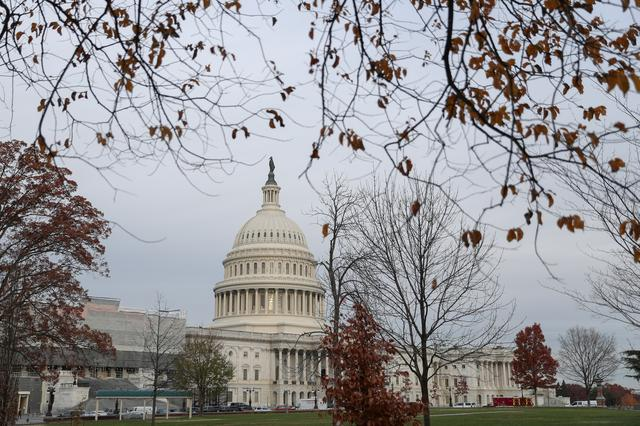 FILE PHOTO: The U.S. Capitol building is seen before a House Judiciary Committee hearing on the impeachment inquiry into U.S. President Donald Trump on Capitol Hill in Washington, U.S., December 4, 2019. REUTERS/Loren Elliott/File Photo