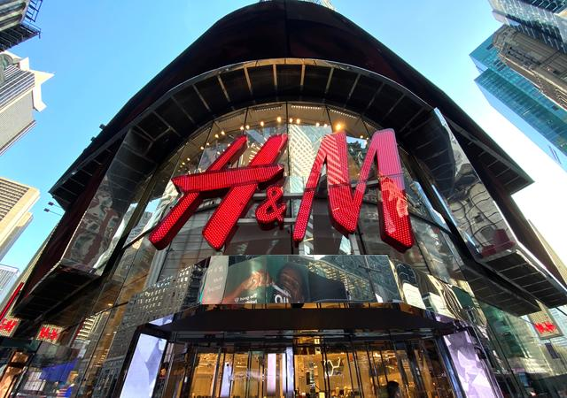 The H&M clothing store is seen in Times Square in Manhattan, New York, U.S., November 15, 2019. REUTERS/Mike Segar