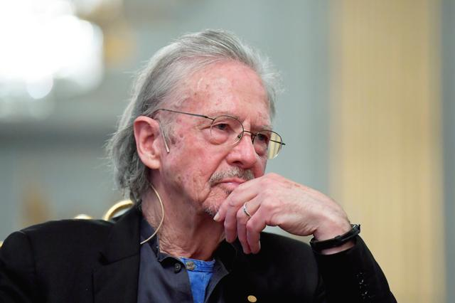 Nobel Prize in Literature laureate Peter Handke reacts during a news conference at the Swedish Academy in Stockholm, Sweden December 6, 2019. Anders Wiklund/TT News Agency/via REUTERS      ATTENTION EDITORS - THIS IMAGE WAS PROVIDED BY A THIRD PARTY. SWEDEN OUT. NO COMMERCIAL OR EDITORIAL SALES IN SWEDEN.