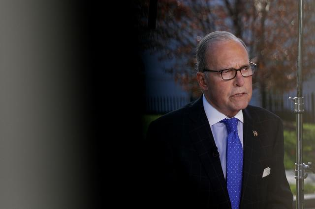 FILE PHOTO: Director of the National Economic Council Larry Kudlow speaks to the media at the White House in Washington, U.S., November 1, 2019 REUTERS/Tom Brenner