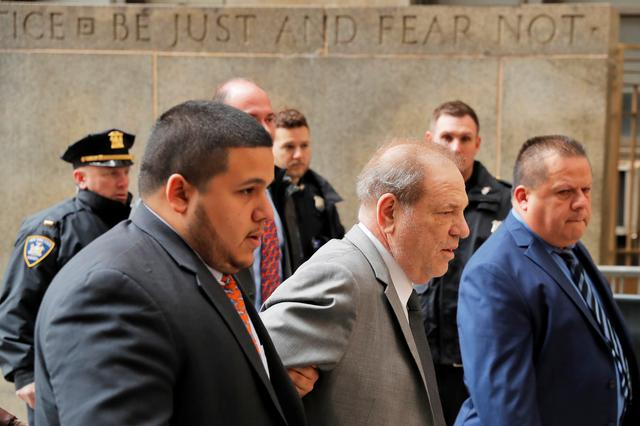 Film producer Harvey Weinstein arrives for a hearing in his sexual assault case at New York Supreme Court in New York, U.S., December 6, 2019.  REUTERS/Lucas Jackson