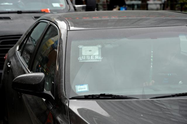 An Uber car in New York City, New York, U.S., December 6, 2019. REUTERS/Jefferson Siegel