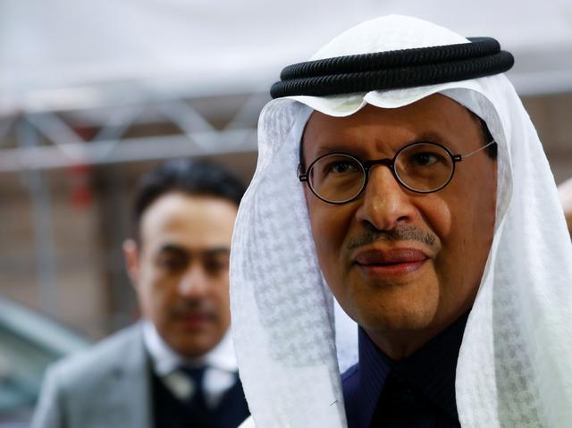 Saudi Arabia's Minister of Energy Prince Abdulaziz bin Salman Al-Saud arrives at the OPEC headquarters in Vienna, Austria December 6, 2019. REUTERS/Leonhard Foeger