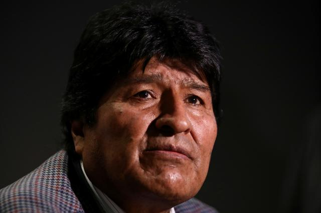 FILE PHOTO: Former Bolivian President Evo Morales looks on during an interview with Reuters, in Mexico City, Mexico November 15, 2019. REUTERS/Edgard Garrido/File Photo