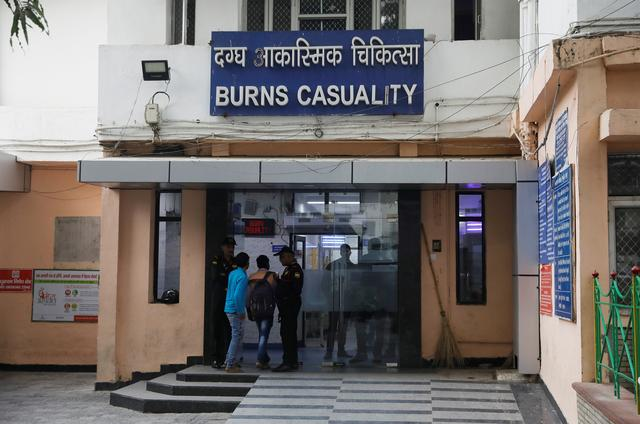 The burns casualty ward of a hospital where a 23-year-old rape victim, who was set ablaze by a gang of men, including the alleged rapist, is being treated, is pictured in New Delhi, India, December 6, 2019. REUTERS/Adnan Abidi