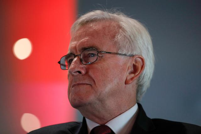 FILE PHOTO: Britain's Shadow Chancellor John McDonnell attends a general election campaign event in Birmingham, Britain December 4, 2019. REUTERS/Phil Noble/File Photo