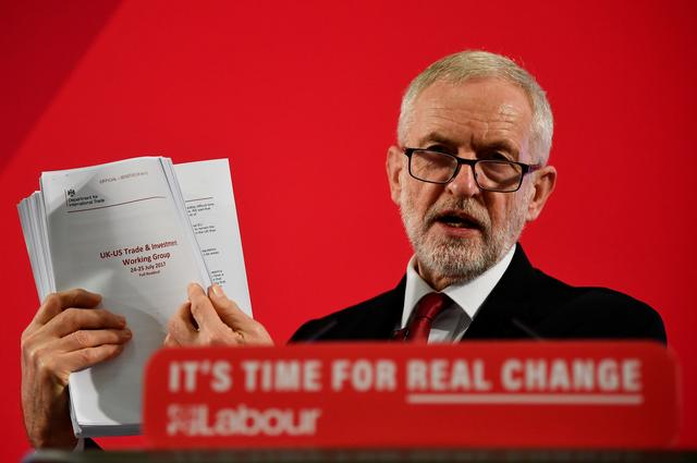 FILE PHOTO: Britain's opposition Labour Party leader Jeremy Corbyn speaks during a general election campaign event in London, Britain November 27, 2019. REUTERS/Toby Melville/File Photo