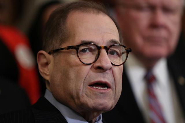 FILE PHOTO: U.S. House Judiciary Committee Chairman Jerrold Nadler (D-NY) speaks at a news conference ahead of a vote on the Voting Rights Advancement Act, on Capitol Hill in Washington, U.S., December 6, 2019. REUTERS/Loren Elliott/File Photo