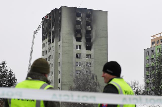 FILE PHOTO: An apartment building, damaged by a gas explosion, is seen in Presov, Slovakia, December 7, 2019. REUTERS/Stringer/File Photo