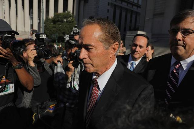 FILE PHOTO: Chris Collins, former U.S. Representative for New York's 27th congressional district departs after pleading guilty at Federal Court in New York City, New York, U.S., October 1, 2019. REUTERS/Lucas Jackson