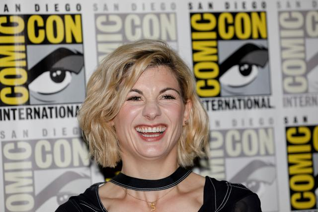 "FILE PHOTO: Jodie Whittaker, ""The Doctor"" from the cast of the BBC show ""Doctor Who"" attends the pop culture convention Comic Con in San Diego, California, U.S. July 19, 2018. REUTERS/Mike Blake/File Photo"
