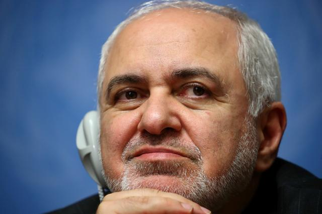 FILE PHOTO: Iran's Foreign Minister Mohammad Javad Zarif attends a news conference, a day ahead of the first meeting of the new Syrian Constitutional Committee at the Untied Nations in Geneva, Switzerland, October 29, 2019. REUTERS/Denis Balibouse