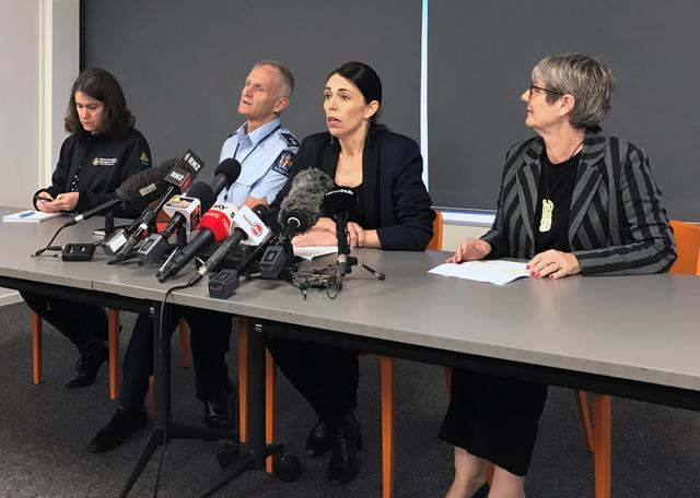 New Zealand's Prime Minister Jacinda Ardern addresses the media following an eruption of the White Island volcano, in Whakatane, New Zealand December 10, 2019. REUTERS/Charlotte Greenfield