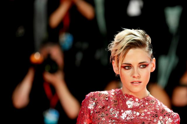 "FILE PHOTO: The 76th Venice Film Festival - Screening of the film ""Seberg"" in competition - Red Carpet Arrivals - Venice, Italy, August 30, 2019 - Actor Kristen Stewart poses. REUTERS/Yara Nardi/File Photo"
