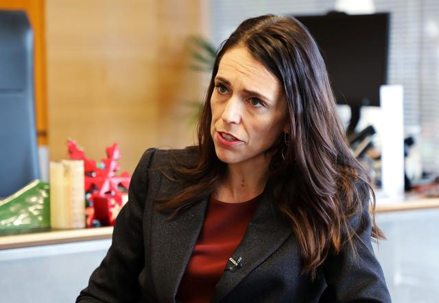 New Zealand's Prime Minister Jacinda Ardern speaks during an interview with Reuters in Wellington, New Zealand, December 11, 2019.  REUTERS/Yiming Woo