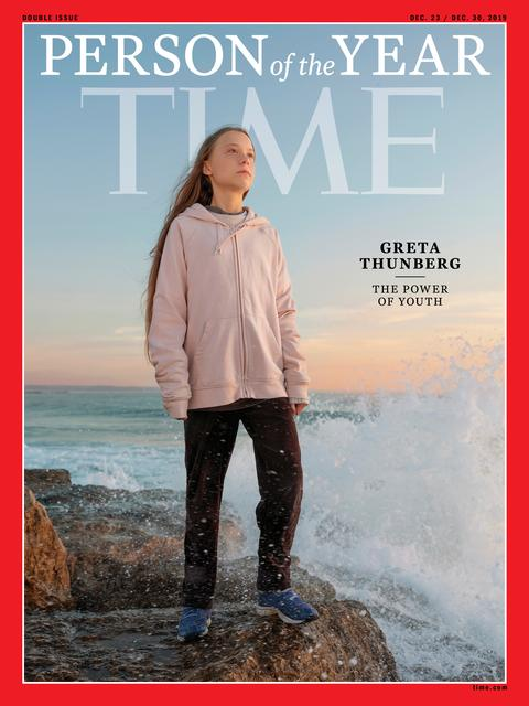 Time cover features Swedish teen activist Greta Thunberg named the magazine's Person of the Year for 2019 in this undated handout. TIME via REUTERS