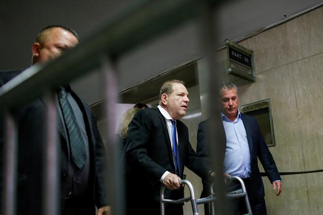 Film producer Harvey Weinstein exits the courtroom at the New York Supreme Court in New York, U.S., December 11, 2019. REUTERS/Eduardo Munoz