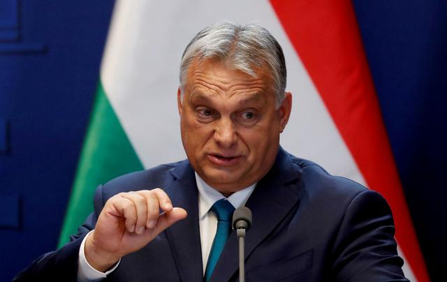 FILE PHOTO: Hungarian Prime Minister Viktor Orban speaks during a news conference in Budapest, Hungary, October 30, 2019. REUTERS/Bernadett Szabo/File Photo