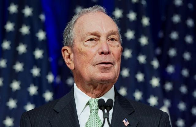FILE PHOTO: Democratic U.S. presidential candidate Michael Bloomberg addresses a news conference after launching his presidential bid in Norfolk, Virginia, U.S., November 25, 2019. REUTERS/Joshua Roberts/File Photo