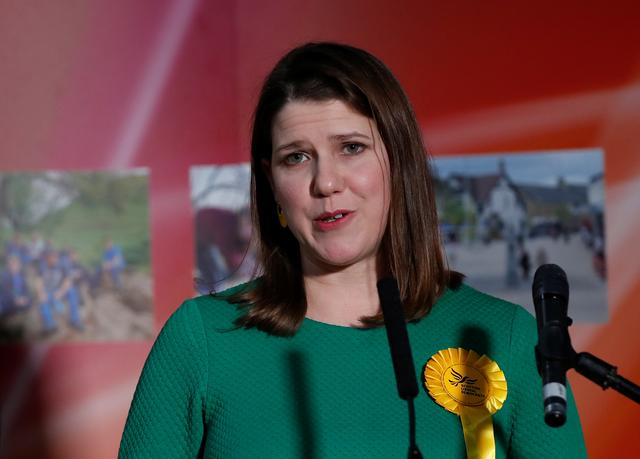 Liberal Democrats candidate Jo Swinson speaks after losing her seat in East Dunbartonshire constituency, at a counting centre for Britain's general election in Bishopbriggs, Britain December 13, 2019.  REUTERS/Gonzalo Fuentes