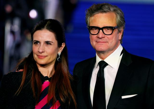 "FILE PHOTO: Actor Colin Firth and his wife Livia Giuggioli attend the European premiere of ""Mary Poppins Returns"" in London, Britain December 12, 2018. REUTERS/John Sibley/File Photo"