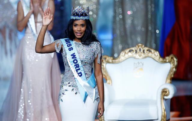 Miss World 2019 Toni Ann Singh of Jamaica celebrates winning the Miss World final in London, Britain December 14, 2019. REUTERS/Henry Nicholls