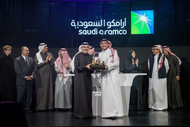 Amin H. Nasser, President and CEO of Aramco, attends the official ceremony marking the debut of Saudi Aramco's initial public offering (IPO) on the Riyadh's stock market, in Riyadh, Saudi Arabia, December 11, 2019. Saudi Aramco Website/Handout via REUTERS ATTENTION EDITORS - THIS IMAGE WAS PROVIDED BY A THIRD PARTY. NO RESALES. NO ARCHIVES.