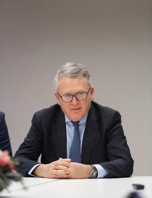 FILE PHOTO: EU Commissioner-designate for Jobs, Nicolas Schmit, during a photo-call at Europe House in Stockholm, Sweden December 13, 2019.  Karin Wesslen/TT News Agency/via REUTERS