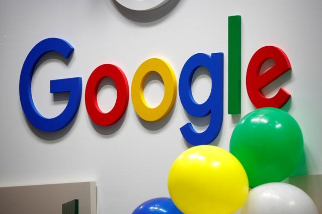 FILE PHOTO: The logo of Google is seen at the high profile startups and high tech leaders gathering, Viva Tech,in Paris, France May 16, 2019. REUTERS/Charles Platiau/File Photo