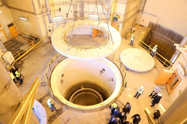 FILE PHOTO: A view of the water nuclear reactor at Arak, Iran December 23, 2019. WANA (West Asia News Agency) via REUTERS