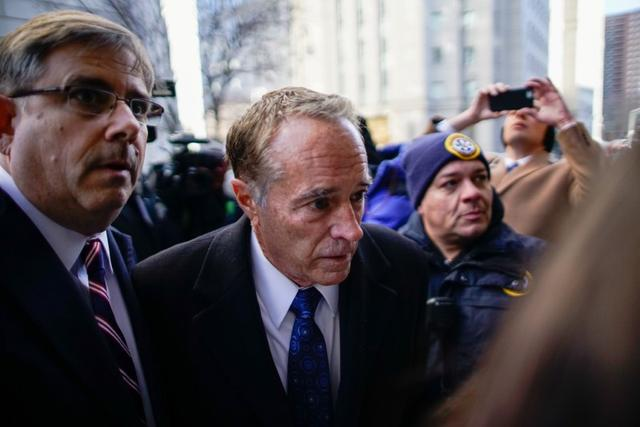 Chris Collins, former U.S. Representative for New York's 27th congressional district arrives to New York Federal Court for his sentence in the Manhattan borough of New York City, New York, U.S., January 17, 2020. REUTERS/Eduardo Munoz