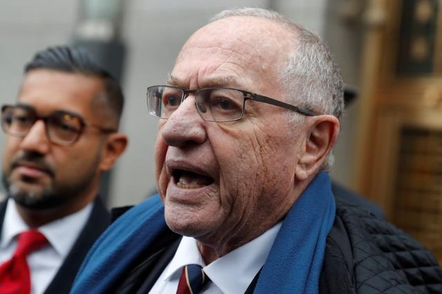 FILE PHOTO: Alan Dershowitz leaves the Manhattan Federal Court in New York, following a status conference in the defamation lawsuit brought by Virginia Giuffre against Dershowitz over discovery issues in Manhattan, New York, U.S., December 2, 2019. REUTERS/Mike Segar