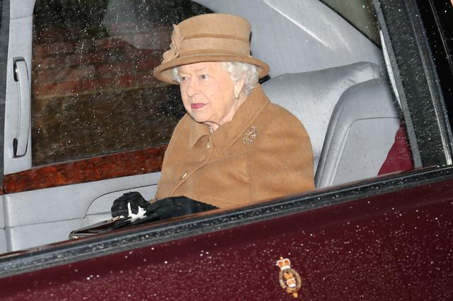FILE PHOTO: Britain's Queen Elizabeth departs from St Mary Magdalene's church on the Sandringham estate in eastern England, Britain January 12, 2020. REUTERS/Chris Radburn/File Photo