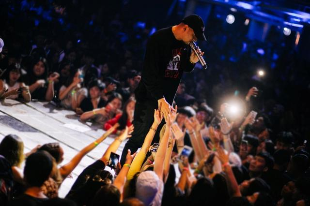 "FILE PHOTO: Rapper Prinya ""DaBoyWay"" Intachai at a hip hop concert in Bangkok, Thailand November 14, 2019. Def Jam Recording/Universal Music Thailand/Handout via REUTERS"