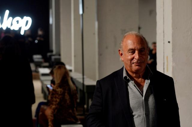 FILE PHOTO: Philip Green attends the TopShop Spring/Summer 2018 show at London Fashion Week in London, Britain, September 17, 2017. REUTERS/Mary Turner/File Photo