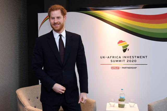 FILE PHOTO: Britain's Prince Harry meets Saad Eddine el-Othmani, Prime Minister of Morocco during the UK-Africa Investment Summit in London, Britain January 20, 2020. Stefan Rousseau/Pool via REUTERS