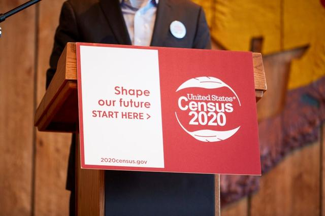 FILE PHOTO: Gabe Layman, chair of the Alaska Census, speaks at the 2020 Census kickoff held at the Alaska Native Heritage Center in Anchorage, Alaska, U.S., January 17, 2020. REUTERS/Brian Adams