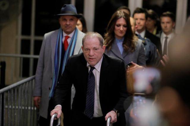 Film producer Harvey Weinstein departs his sexual assault trial at New York Criminal Court in the Manhattan borough of New York City, New York, U.S., January 22, 2020. REUTERS/Lucas Jackson