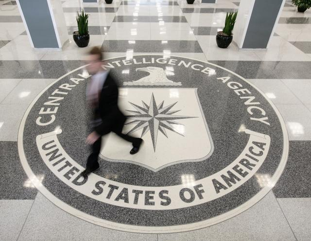 FILE PHOTO: The lobby of the CIA Headquarters Building in McLean, Virginia, August 14, 2008.  REUTERS/Larry Downing