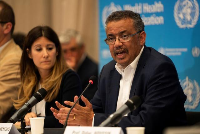 Director-General of World Health Organization (WHO) Tedros Adhanom Ghebreyesus takes part in a news conference after a meeting of the International Health Regulations (IHR) Emergency Committee for Pneumonia due to the Novel Coronavirus 2019-nCoV in Geneva, Switzerland, January 22, 2020. Christopher Black/WHO/Handout via REUTERS