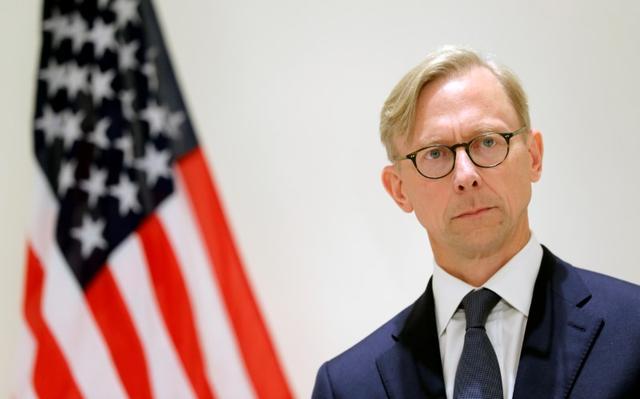 FILE PHOTO: Brian Hook, U.S. Special Representative for Iran, attends a news conference in London, Britain June 28, 2019. REUTERS/Simon Dawson/File Photo