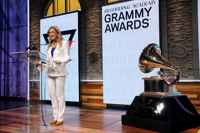 FILE PHOTO: The Recording Academy CEO Deborah Dugan announces nominations for the 2020 Grammy Awards at a news conference in Manhattan, New York, U.S. November 20, 2019. REUTERS/Mike Segar