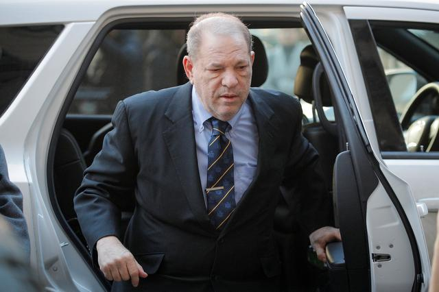 FILE PHOTO: Film producer Harvey Weinstein arrives at New York Criminal Court for his sexual assault trial in the Manhattan borough of New York City, New York, U.S., January 24, 2020. REUTERS/Brendan McDermid