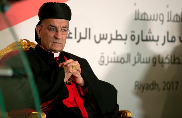 FILE PHOTO: Lebanese Maronite Patriarch Bechara Boutros Al-Rahi visits the Lebanese embassy in Riyadh, Saudi Arabia, November 13, 2017. REUTERS/Faisal Al Nasser/File Photo