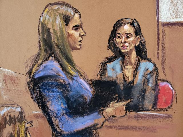 Witness Elizabeth Entin is questioned by Assistant District Attorney Meghan Hast during film producer Harvey Weinstein's sexual assault trial at New York Criminal Court in the Manhattan borough of New York City, New York, U.S. January 28, 2020 in this courtroom sketch.  REUTERS/Jane Rosenberg